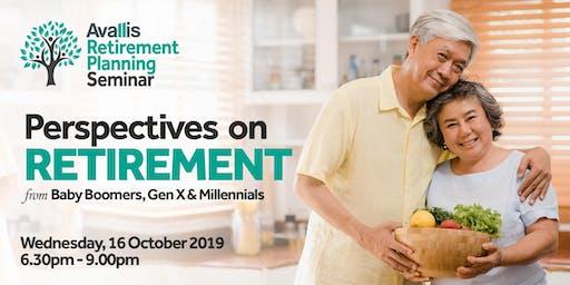 Avallis Retirement Planning Seminar  l  16 October 2019