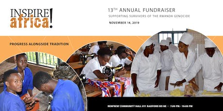 INSPIRE!africa 2019 Fundraiser supporting survivors of the Rwanda genocide tickets