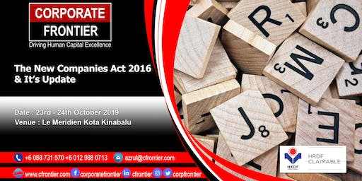 The New Companies Act 2016 & It's Update
