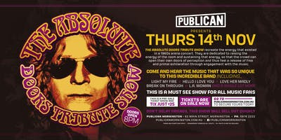 The Absolute Doors Tribute Show LIVE at Publican, Mornington!
