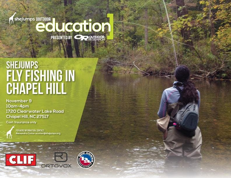 NC SheJumps Fly Fishing in Chapel Hill