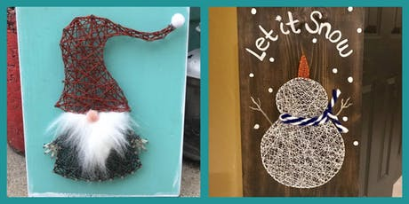 Snowman or Gnome String Art tickets