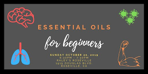 Essential Oils for Beginners October 20, 2019