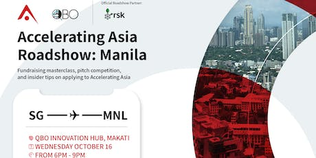 Accelerating Asia Roadshow in Manila tickets