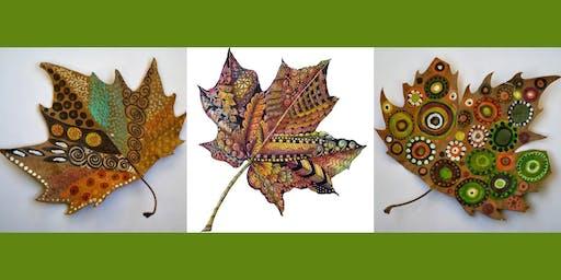 Zentangle Leaf Art with Lynda