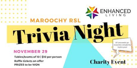Trivia Night - Enhanced Living Hydropool Charity Event tickets