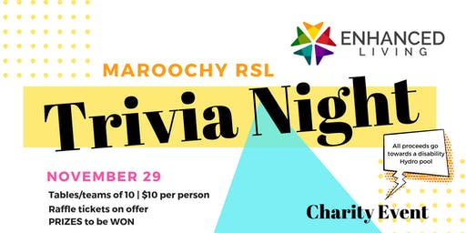 Trivia Night - Enhanced Living Hydropool Charity Event