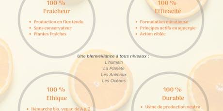 Atelier découverte des cosmétiques et compléments alimentaires 100% naturels billets