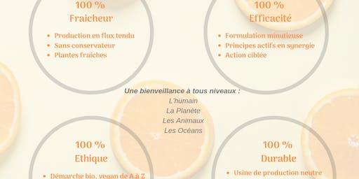 Atelier découverte des cosmétiques et compléments alimentaires 100% naturels