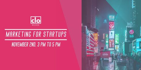Marketing for Startups tickets