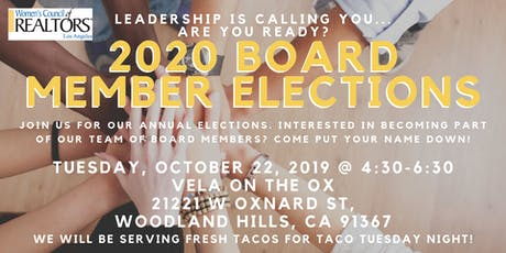 2020 Board Member Elections tickets
