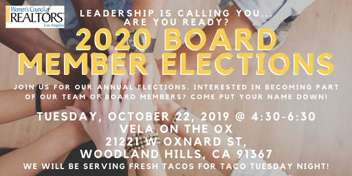 2020 Board Member Elections