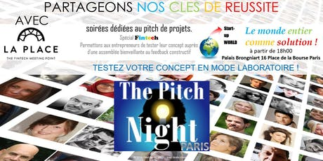 "Pitch night Paris spécial ""FINTECH"" billets"