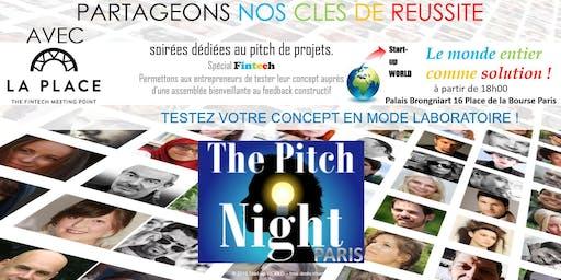 "Pitch night Paris spécial ""FINTECH"""