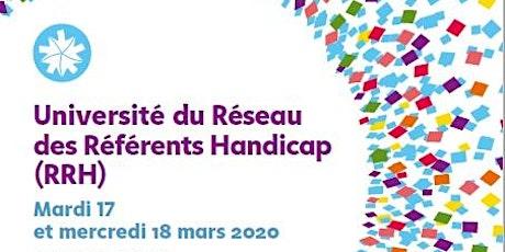 Université du Réseau des référents handicap (RRH) billets