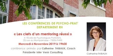 Conf RH Psychoprat : Les clefs d'un mentoring réussi billets