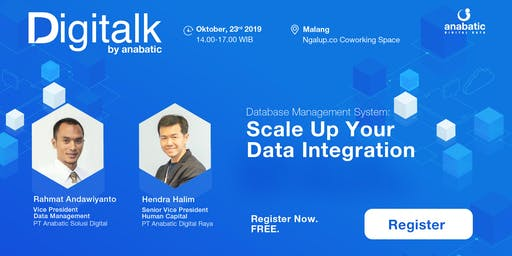 [WORKSHOP] DATABASE MANAGEMENT SYSTEM: SCALE UP YOUR DATA INTEGRATION