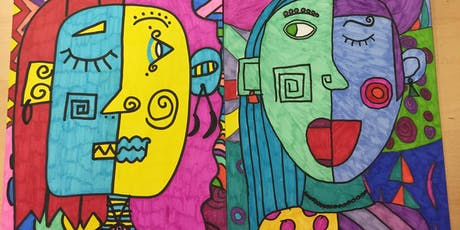 HALF TERM ART WORKSHOP - Picasso Inspired Abstract Portrait  tickets