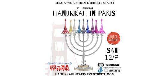 Hanukkah in Paris at the Hotel Kabuki