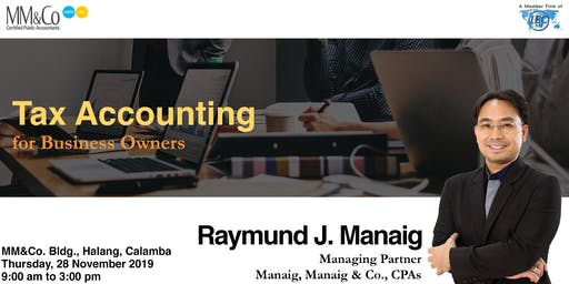 Tax Accounting for Business Owners