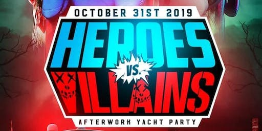 10/31 Heroes Vs Villains Halloween Costume Yacht Party