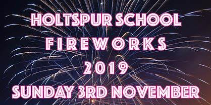 Holtspur Fireworks 2019 Sunday 3rd November
