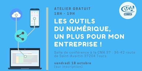 """Atelier  gratuit : """"les outils du numérique, un plus pour mon entreprise !"""" billets"""