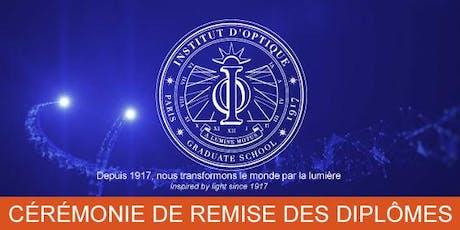 Cérémonie de remise des diplômes de l'Institut d'Optique - Promotion 2019 billets