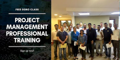 Free demonstration of Project Management Professional Training Course tickets