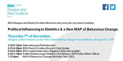 Political Influencing in Dietetics & a New MAP of Behaviour Change