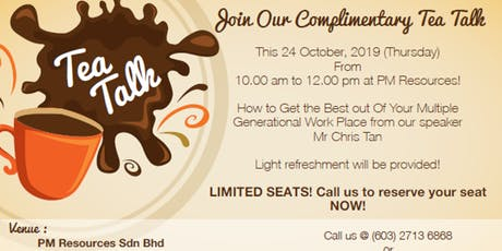 How to get the Best Out of Your Multiple Generational Workplace?  tickets