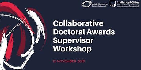 Midlands4Cities Collaborative Doctoral Awards Supervisor Workshop tickets
