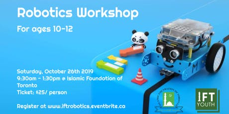 Robotics Workshop (beginner version, ages 10-12) tickets