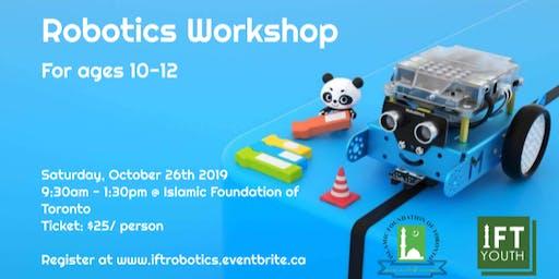 Robotics Workshop (beginner version, ages 10-12)