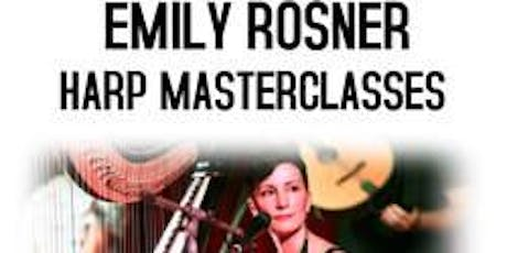 Harp Masterclass for Adults with Emily Rosner free childcare tickets
