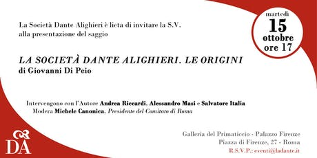 La Società Dante Alighieri. Le origini biglietti