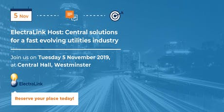 ElectraLink Host: Central Solutions for a Fast Evolving Utilities Industry tickets