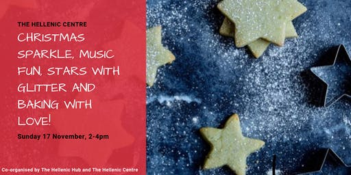 Christmas Sparkle, Music Fun, Stars with Glitter and Baking with Love!
