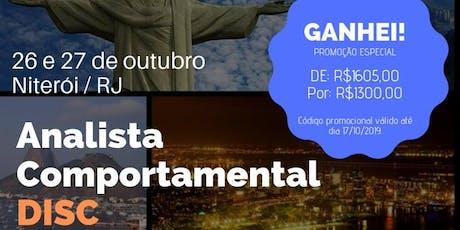 FORMAÇÃO ANALISTA COMPORTAMENTAL DISC ingressos