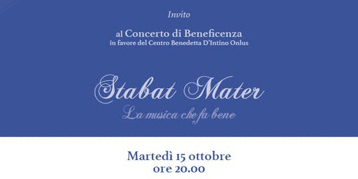 Stabat Mater: la Musica Che Fa Bene