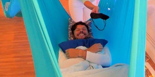 7-8:30pm Laughter Pods™… a Laughter Yoga + Aerial Relaxation experience!