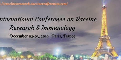 Vaccine Research & Immunology 2019 tickets