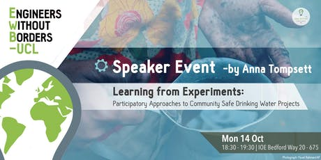Speaker Event by Anna Tompsett: Learning From Experiments tickets