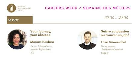 Careers Week Conference Series: Mariam Haidara, Youri Sawerschel billets