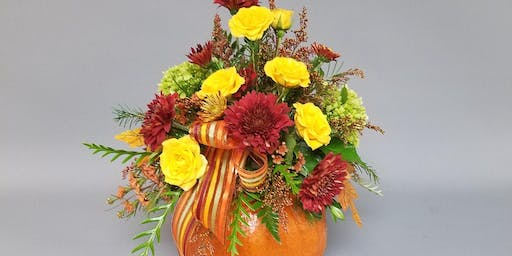 Fresh Pumpkin Centerpiece Workshop