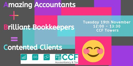 Amazing Accountants + Brilliant Bookkeepers = Contented Clients tickets