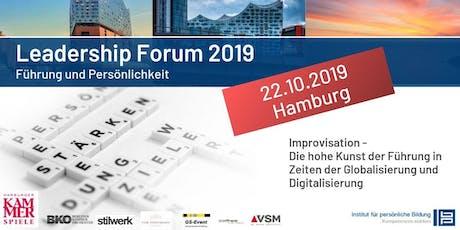 Leadership Forum 2019 - Führung und Persönlichkeit Tickets
