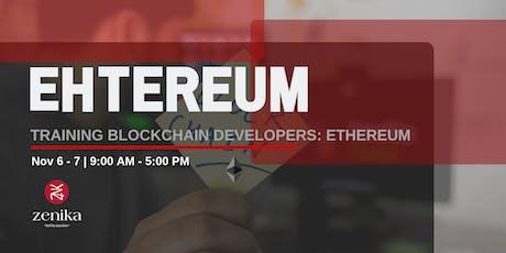 Training Blockchain Developers: Ethereum tickets