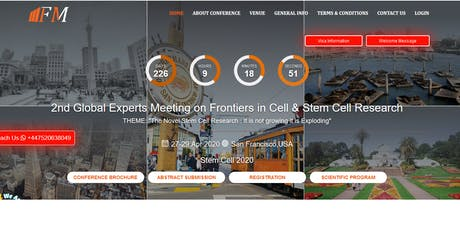2nd Global Experts Meeting on Frontiers in Cell & Stem Cell Research tickets