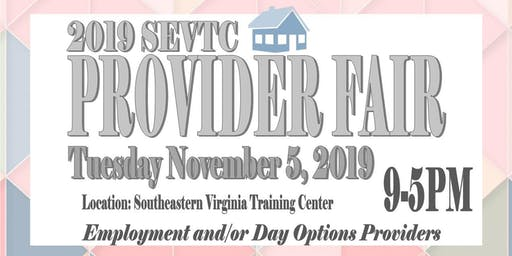 2019 SEVTC Employment/ Day Options Provider Fair
